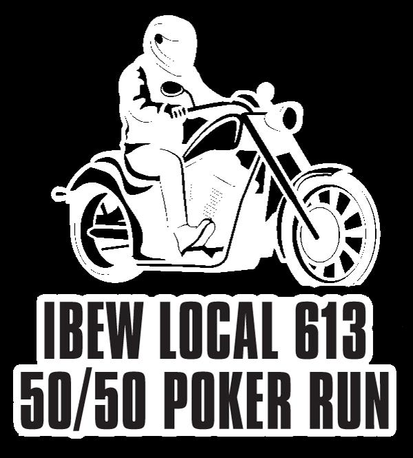 ibew 613 50/50 poker run graphic